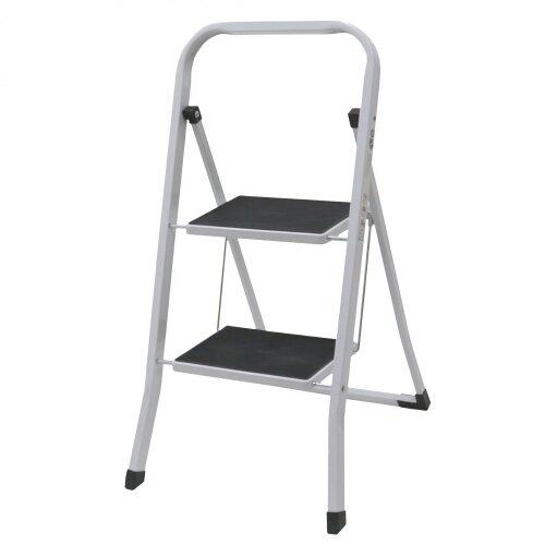 Oypla Foldable 2 Step Ladder Stepladder Non Slip Tread Safety Steel