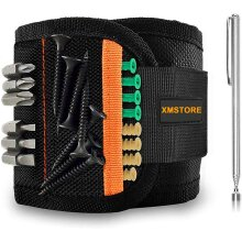 Magnetic Wristband with 15 Strong Magnets for Holding Screws