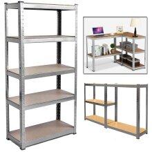 5 Tier  Metal Deep Wide Garage Shelves Shelving Racking Storage 150x70x30cm