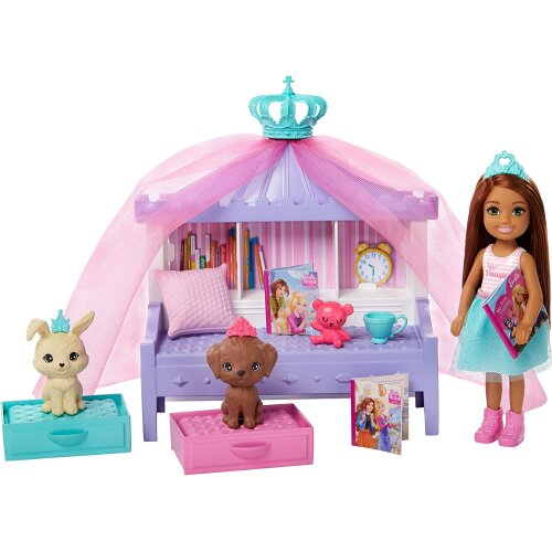 Mattel Barbie Princess Adventure Chelsea Play Set