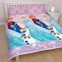 Disney Frozen Magic Double Duvet Set Quilt Cover Anna Elsa Olaf Girls Bedding