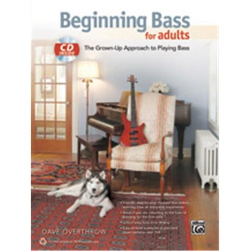 Alfred 00-40272 BEGINNING BASS FOR ADULTS-BK&CD