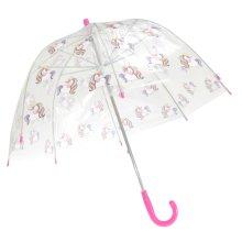 X-Brella Kids' Transparent Unicorn Print Stick Umbrella   Dome Umbrella