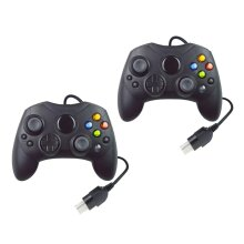 Black Controller For Original Xbox Wired Gamepad Fit Official Console NEW 2 PACK