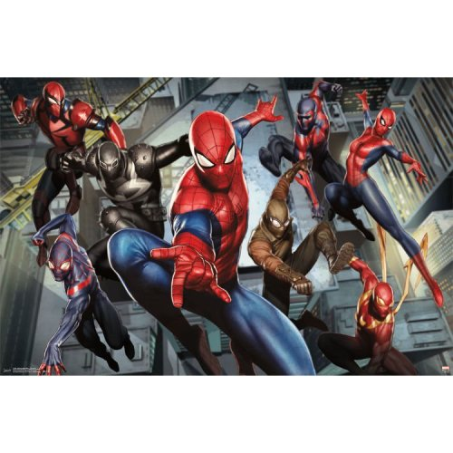 "Poster - Studio B - Ultimate Spiderman - Characters 23""x35"" Wall Art p4386"