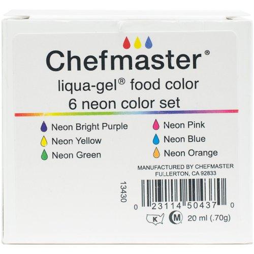 Liqua-Gel Color Kit 6/Pkg .7oz-