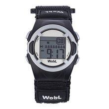 WobL Watch - Children's 8-Alarm Vibrating Reminder Watch, Potty Training Tool (Black)