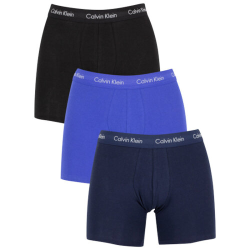 (L) CALVIN KLEIN Men's Boxer Brief Trunks Stretch Cotton 3 Pack CK Underwear