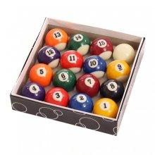 "Oypla Full Size UK Regulation 16 Spots and Stripes Pool Ball Set 2"""