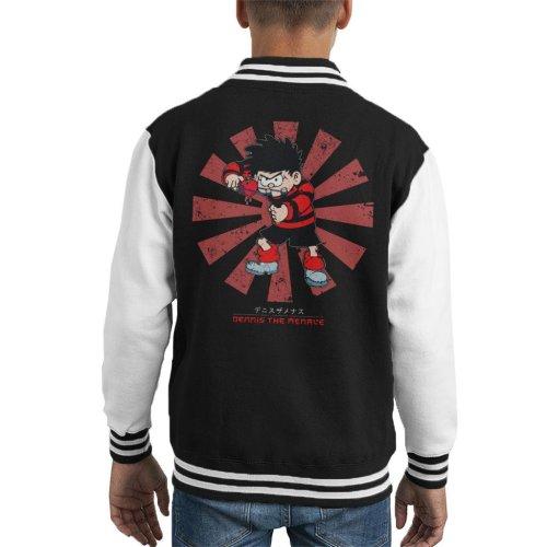 Dennis The Menace Retro Japanese Kid's Varsity Jacket