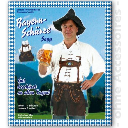 Bayern apron costume Men Sepp Oktoberfest JGA Male costume Size UNI