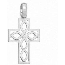 Celtic Cross Pendant Sterling Silver Cross 34 x 18mm