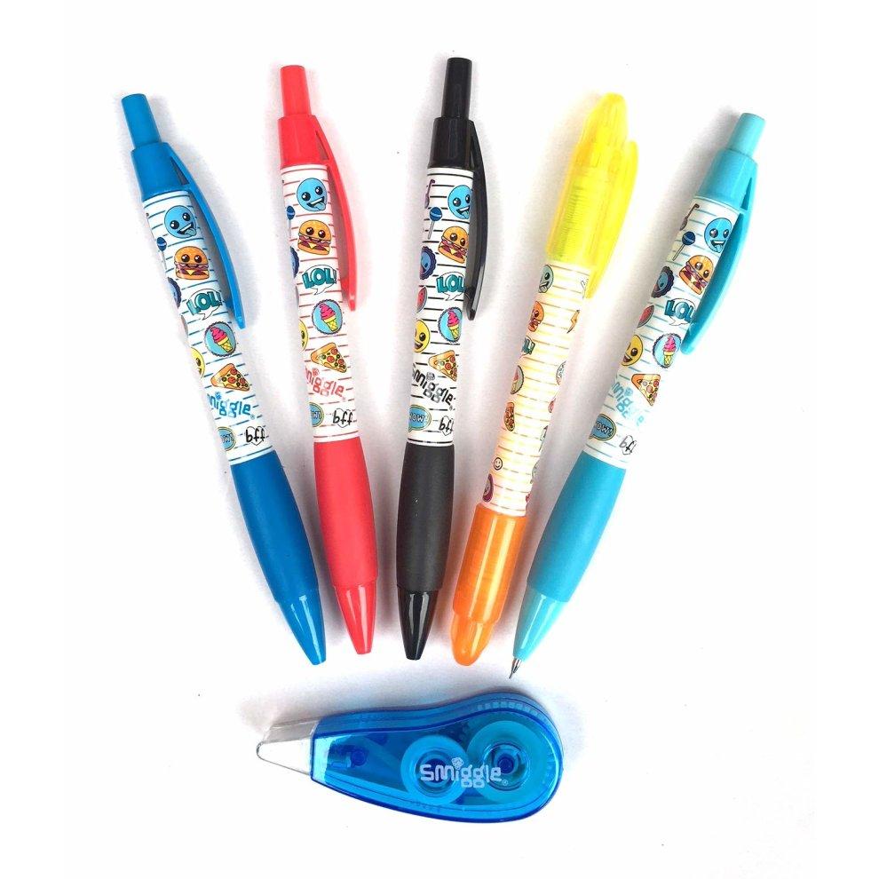 Neon Smiggle Scented Twist-Up Solid Gel Highlighter Sticks x4 Pack