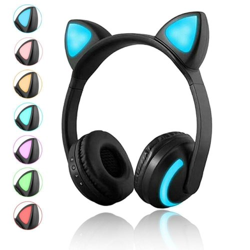 Wireless Bluetooth Cat Ear Headphones with Mic 7 Colors