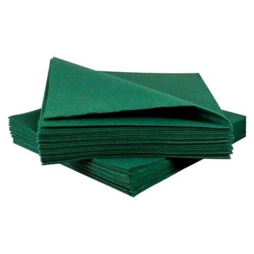 TableSMART Napkins Green Size 33x33cm 2Ply, Pack of 100