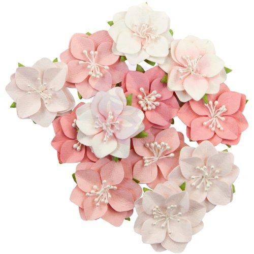 Prima Marketing Mulberry Paper Flowers  -Ripe Berry/Fruit Paradise, 12/Pkg