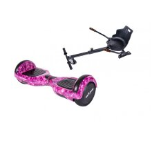 Package Smart Balance Hoverboard 6.5 inch, Regular Galaxy Pink + Hoverseat, Motor 700 Wat, Bluetooth, LED
