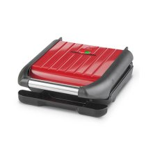 George Foreman Compact Steel Grill - Red