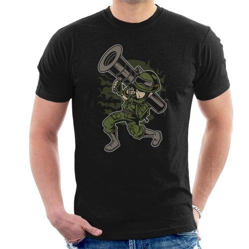 Cartoon Rocket Launcher Men's T-Shirt