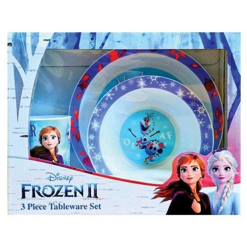 Frozen 2 Childrens/Kids Tableware Set (3 Pieces)