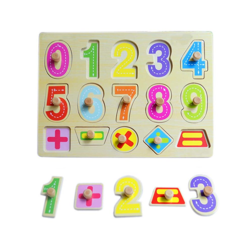 Wooden Toys Grasping Board Peg Puzzle