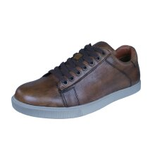 Skechers Volden Fandom Mens Casual Leather Trainers / Shoes - Tan