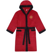 Manchester United FC Official Football Gift Mens Fleece Dressing Gown Robe