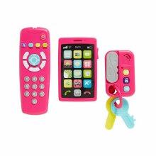 ELC My Gadget Set Pink?Includes TV Remote,Phone,Car Keys?Baby/Toddler Sound Toy