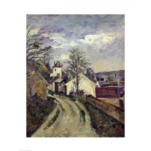 The House of Doctor Gachet Poster Print by Paul Cezanne - 18 x 24 in.