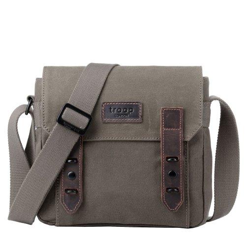 TRP0491 Troop London Classic Canvas Messenger Bag | Buy Bags Online | Canvas Messenger Bags | leather canvas backpack
