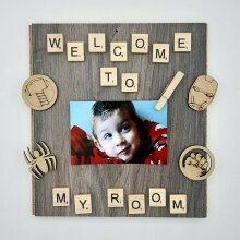 Little Boy Welcome to My Room Scrabble Photo Holder
