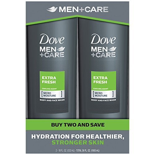 Dove Men+Care Body Wash, Extra Fresh 18 oz, Twin Pack