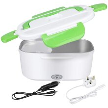 Electric Heating Lunch Box 2 in 1 12V 220V Car Portable Microwave Food Warmer Steamer Heater 1.5L Adult Lunch Bento Box