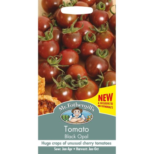 Mr Fothergills - Pictorial Packet - Vegetable - Tomato Black Opal - 15 Seeds