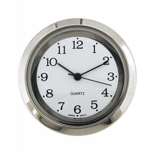 Clock Movement Quartz Mini Insertion Head 35mm Chrome Arabic