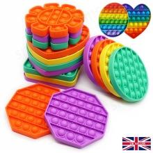 PUSH POP IT Squeeze Sensory Toy Bubble Fidget Toy Good for Kids (Adults)