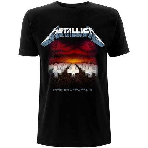 Metallica 'Master Of Puppets Tracks' (Black) T-Shirt
