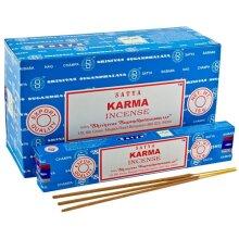 1 BOX OF 12 PACKS SATYA NAG CHAMPA KARMA SCENTED INCENSE STICKS 15g HOME FRAGRANCE AGARBATTI