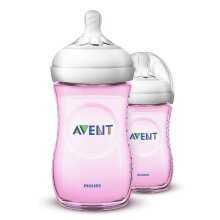 Philips Avent Natural Baby Bottles 260ml (Pink Twin Pack)