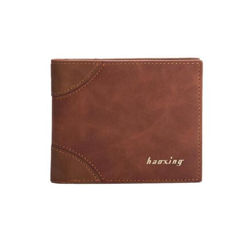 Men's Leather Wallet Slim Bifold  Wallet-Brown