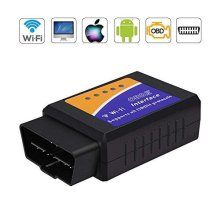 Qhui OBD2 Scanner WIFI, ELM327 Code Reader Device For All Cars, Mini Car Engine Fault OBDII Car Diagnostic Adapter for Android Windows IPhone Smartp