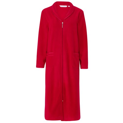 Slenderella HC6322 Women's Red Zip Up Dressing Gown House Coat Robe
