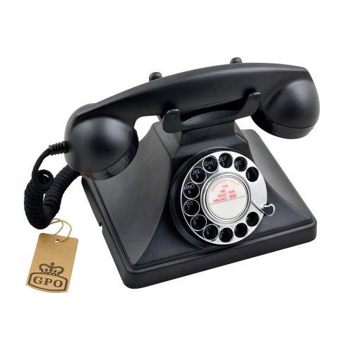 GPO 200 Corded Phone, Black