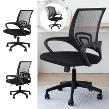 Office Chair Mesh Rotating Computer Chair Adjustable Shaking Features