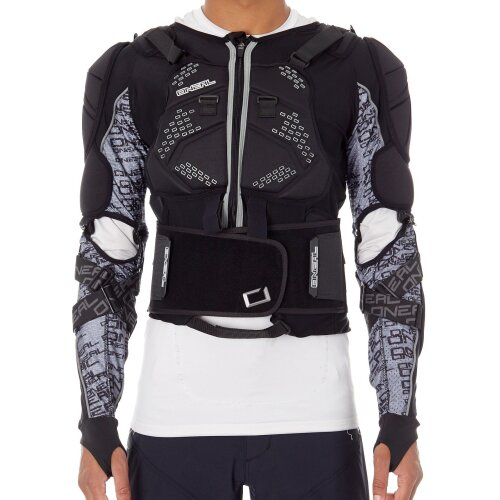 ONeal Black 2019 Madass Moveo MX Protection Jacket - XXL