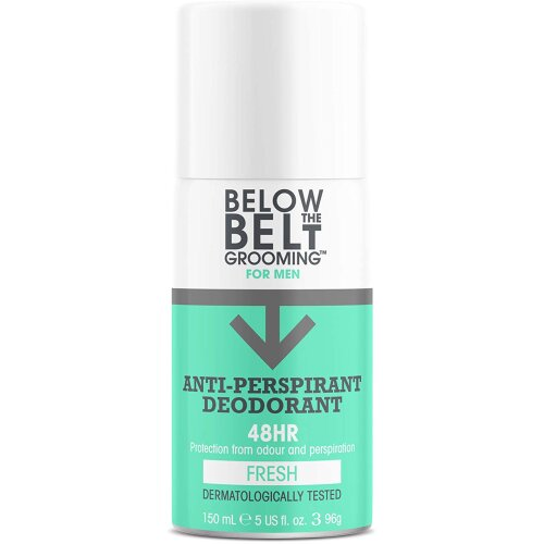 Below the Belt Grooming Fresh Anti Perspirant Deodorant Spray For Men, 48 Hour Protection For A Clean And Fresh Fragrance 150ml