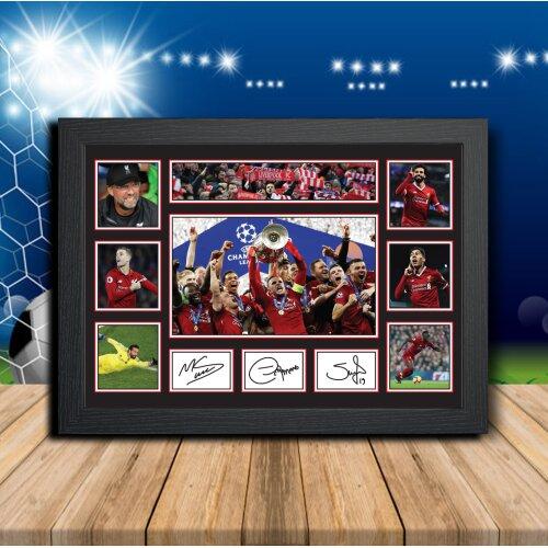 Liverpool Players salah firminho mane - Team Player - Autographed Poster Print Photo Signature GIFT