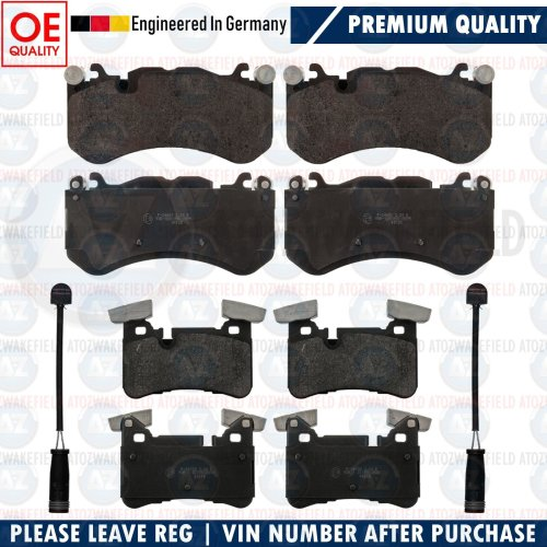 FOR MERCEDES E63 C63 CLS63 AMG FRONT PREMIUM QUALITY BRAKE PADS WIRE SENSORS