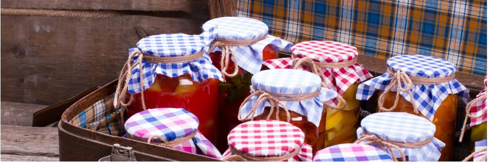 suitcase full of jams