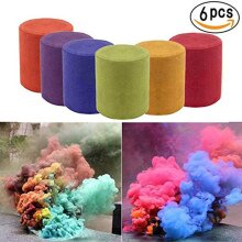 6X Multi-Colors Smoke Effect Cake Shows Bomb Stage Party Photography
